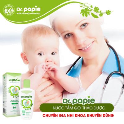 dr.papie nước tắm đầu tiên tại Việt Nam tăng cường sức đề kháng cho da của trẻ nhỏ