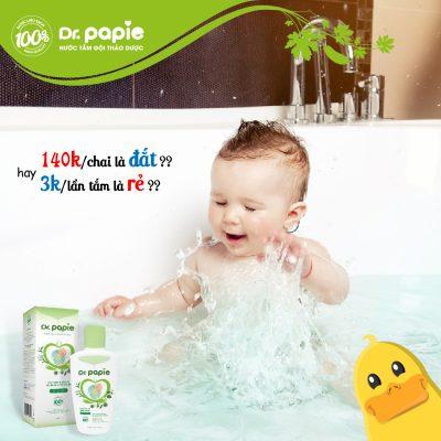 nước tắm thảo dược Dr.Papie chất lượng hơn sự mong đợi với giá