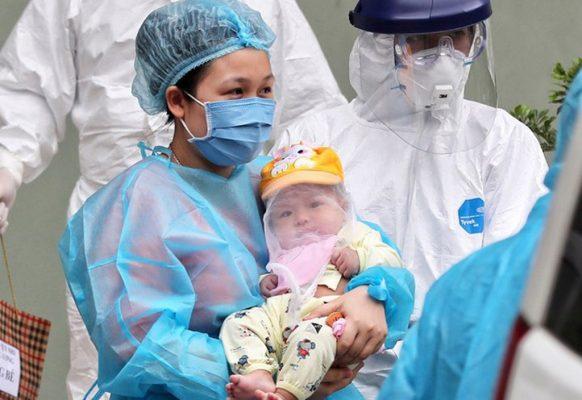 bé gái 3 tháng tuồi nhiễm corona đầu tiên tại Vĩnh Phúc