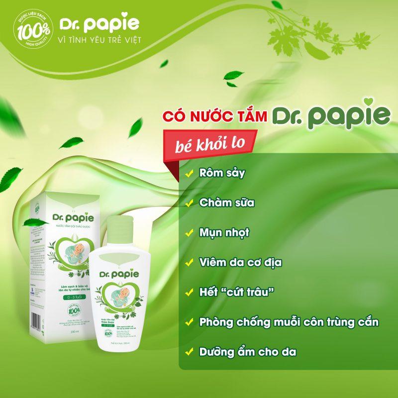 nước tắm thảo dược Dr.papie