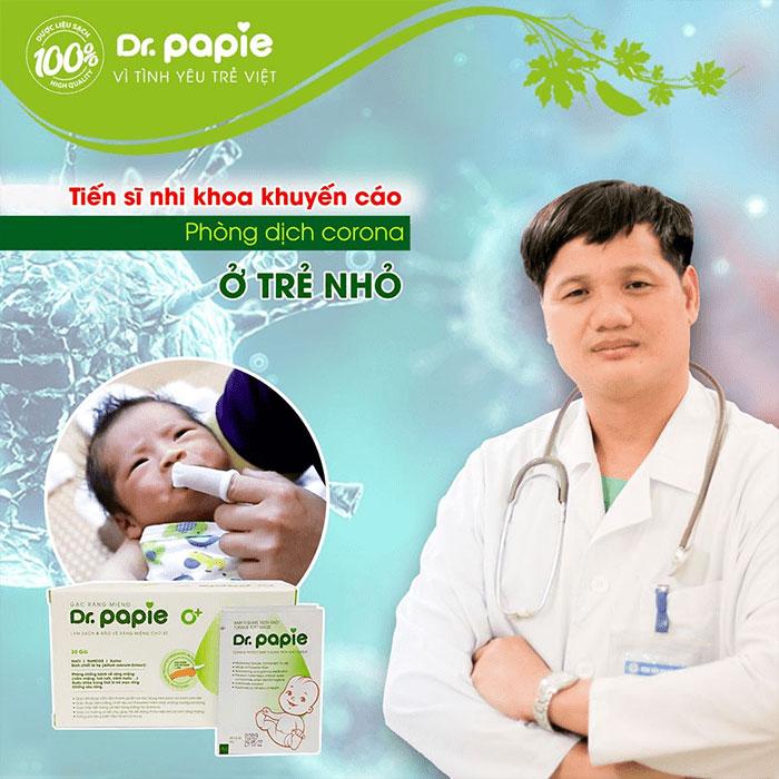 Sử dụng gạc răng miệng Dr.Papie để phòng dịch bệnh
