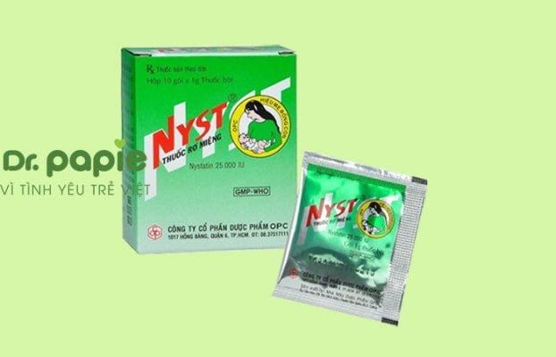 Thuốc chữa nấm miệng ở trẻ em Nystatin