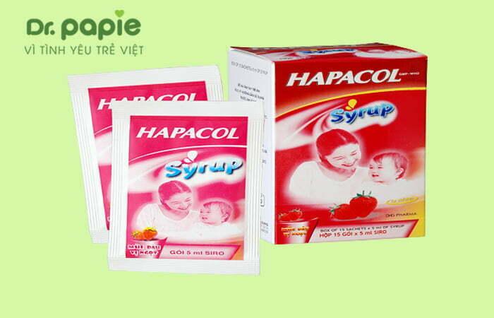 Thuốc hạ sốt Paracetamol cho trẻ sốt mọc răng chân tay lạnh