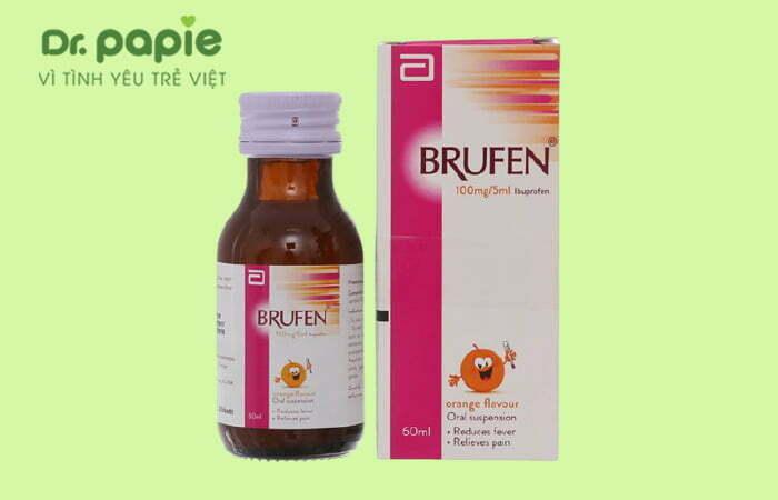 Thuốc hạ sốt Ibuprofen cho trẻ sốt mọc răng chân tay lạnh