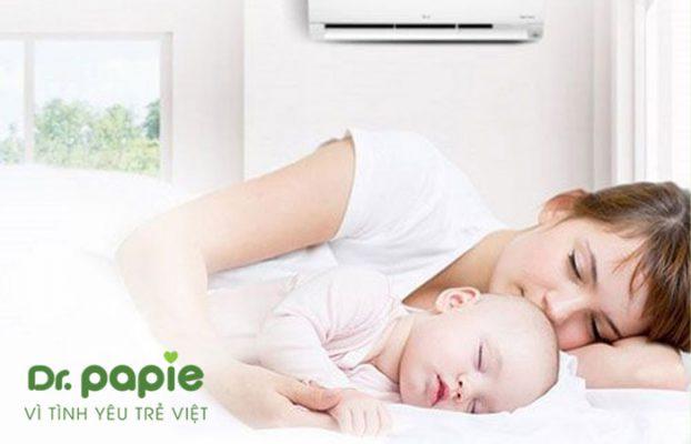 trẻ bị sốt siêu vi có nên nằm máy lạnh