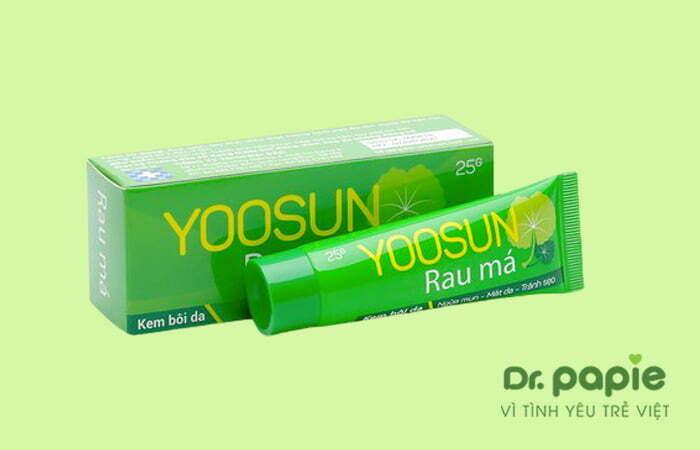 Kem trị rôm sảy Yoosun rau má