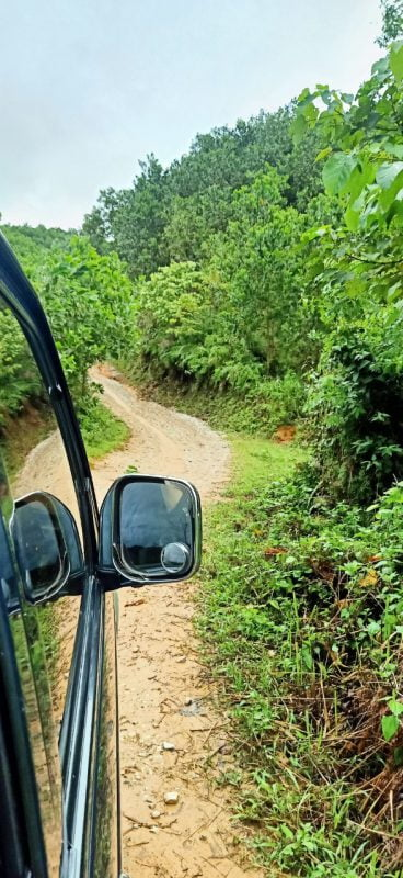 Đường đi mưa lầy lội