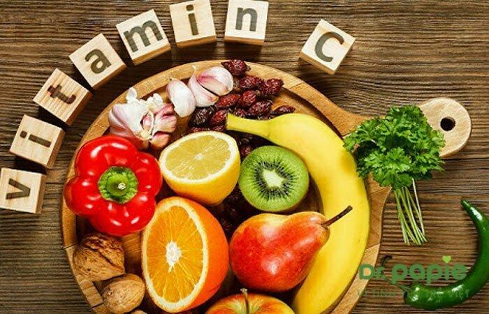 Thức ăn chứa Vitamin C cho trẻ bị sốt mọc răng