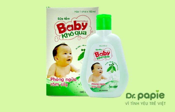 Sữa tắm trị rôm sảy cho bé sơ sinh Baby khổ qua