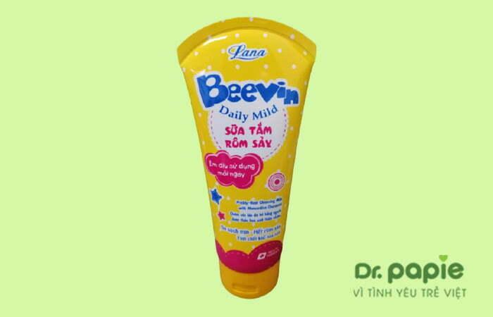 Sữa tắm đặc trị rôm sảy cho bé Beevin