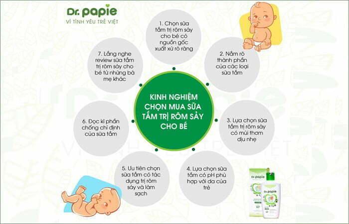 7 kinh nghiệm chọn mua sữa tắm trị rôm sảy cho bé