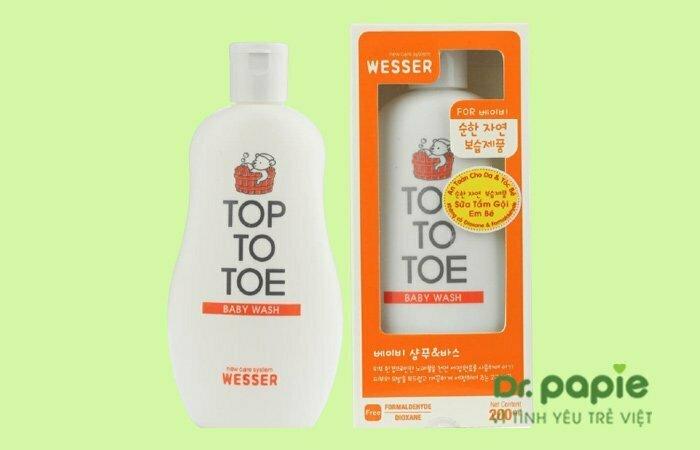 Sữa tắm cho da khô Top To Toe Wesser Nano Silver