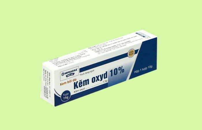 Sử dụng thuốc có chứa Kẽm Oxyd cho trẻ sơ sinh bị chàm sữa