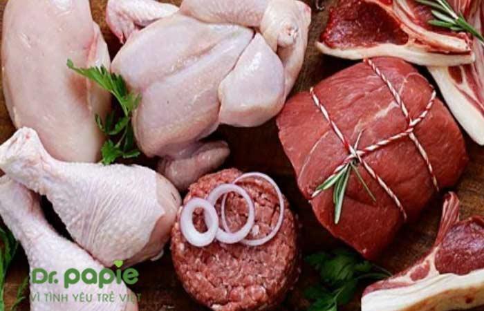 Thịt lợn nạc, thịt gà