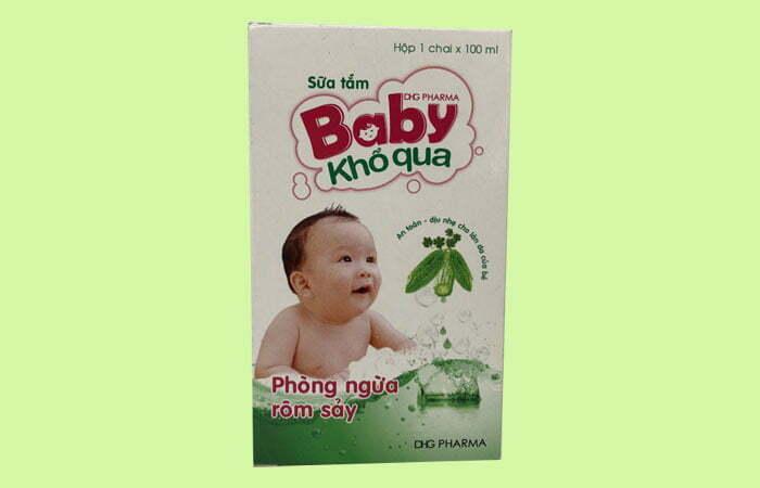 Sữa tắm Baby Khổ Qua kháng khuẩn trên da