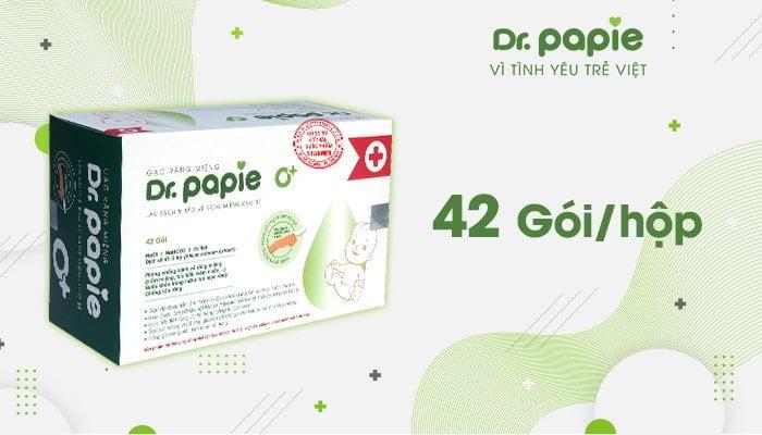 Hình ảnh Gạc răng miệng Dr.Papie với quy cách 42 gói/ 1 hộp