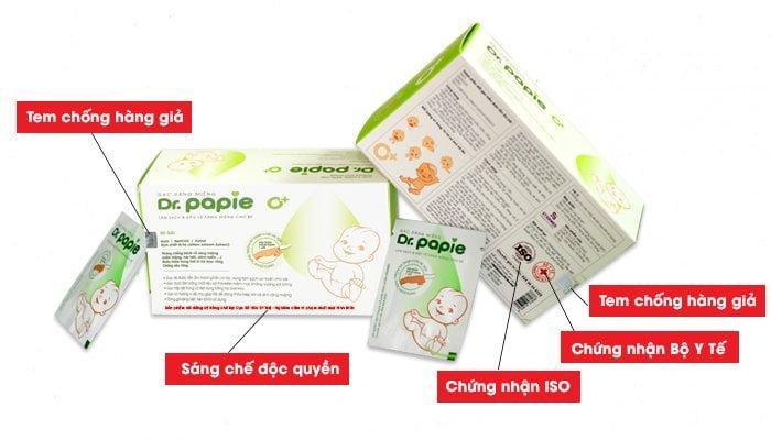 Sản phẩm chính hãng Dr.Papie có logo và các chứng nhận riêng. Qúy khách hàng chú ý để không bị nhầm lẫn